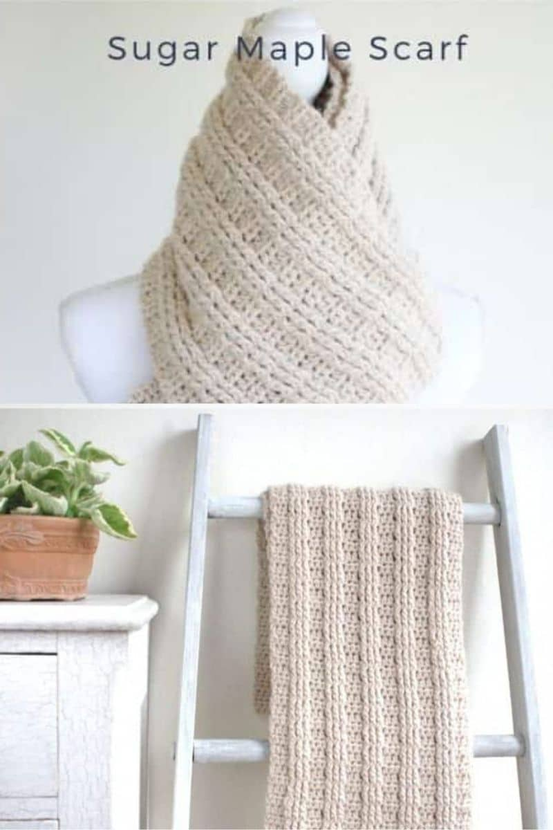 Ivory chunky scarf