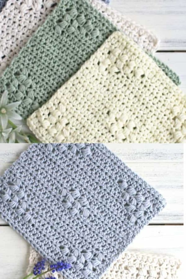 Puff stitch patterns for dishcloths
