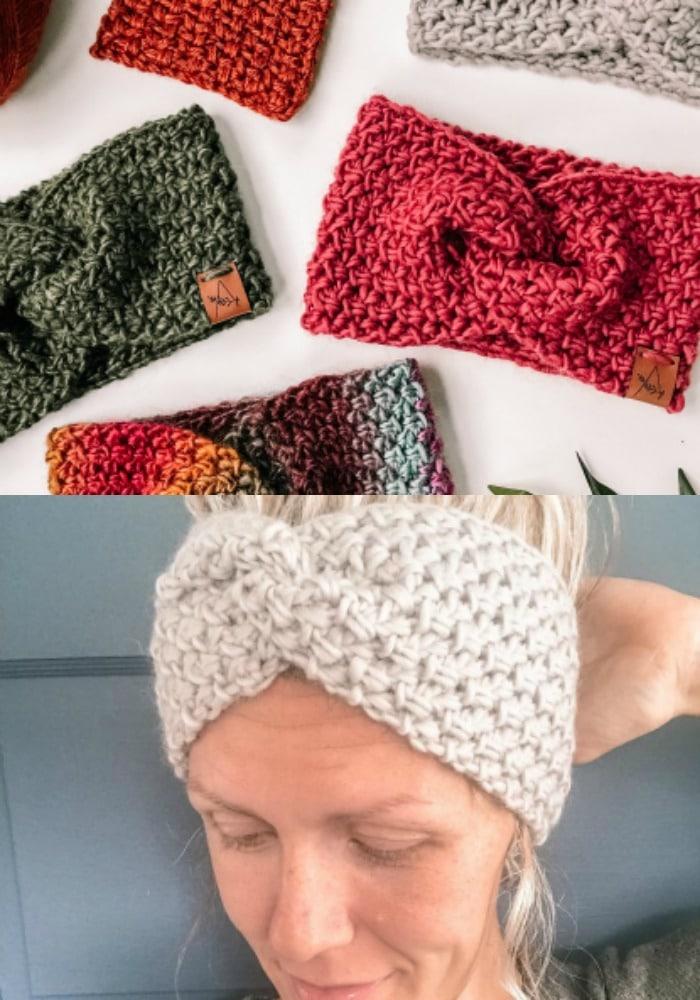 Woven Twist Crochet Headwarmer Pattern