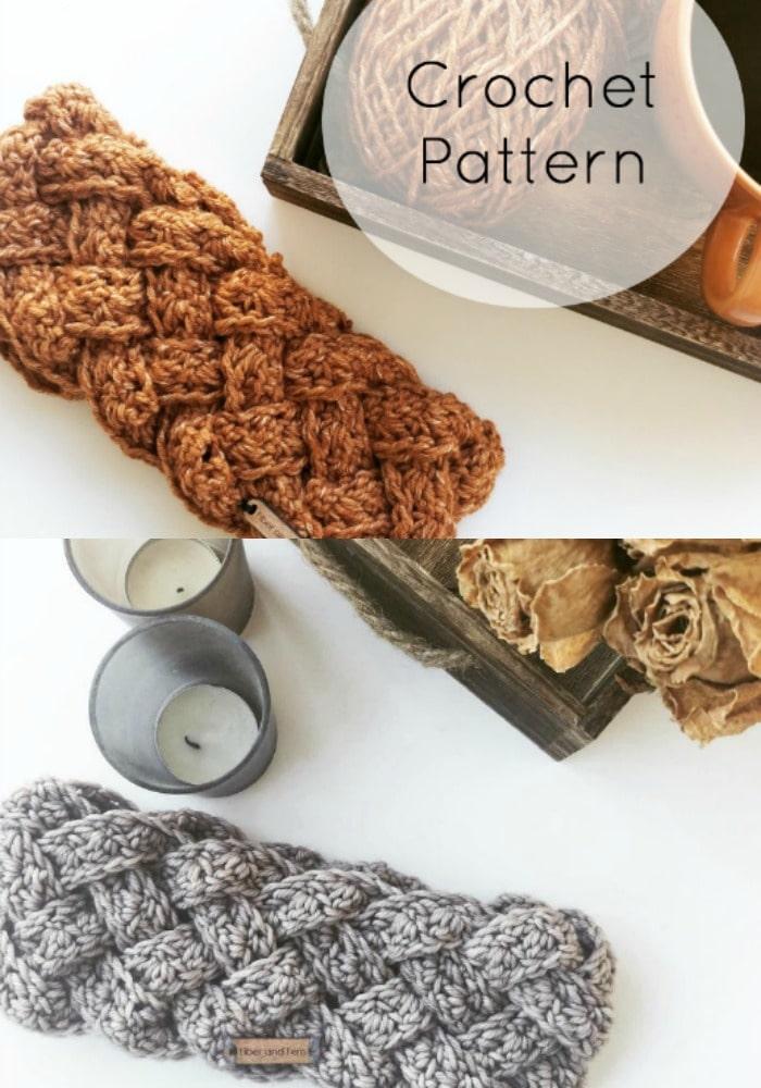 5 Strand Braided Crochet Headband