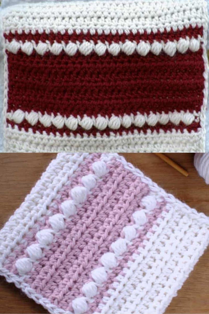 maroon striped scarf