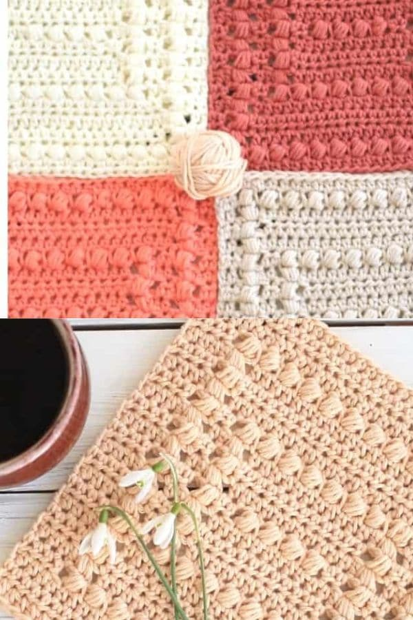 Pink and white striped dishcloths