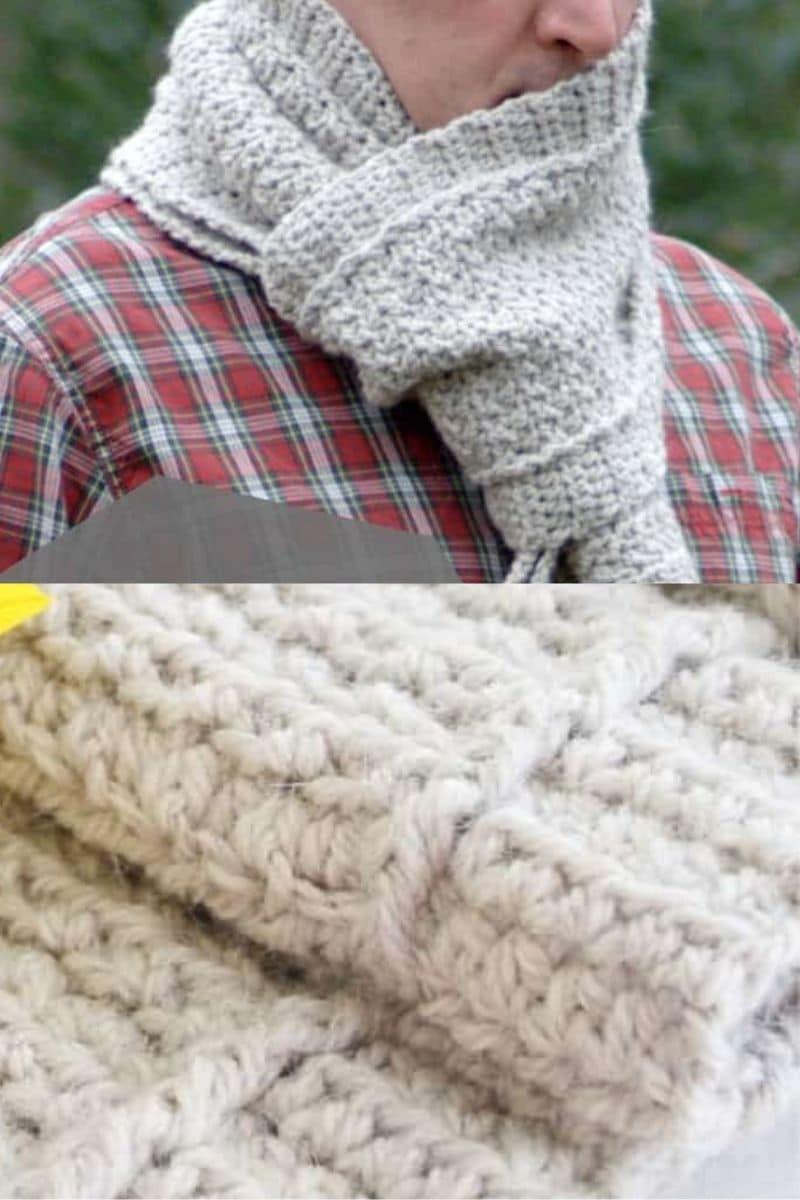 Chunky mens scarf