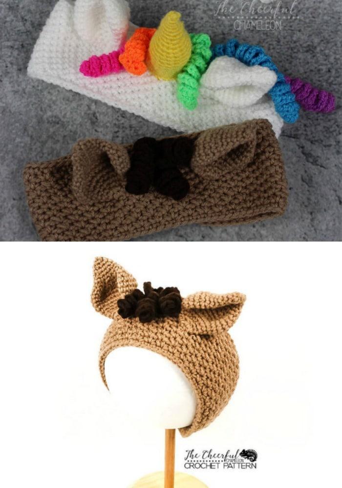 Unicorn Crochet Headband Pattern