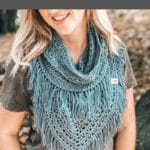Crochet wrap collage