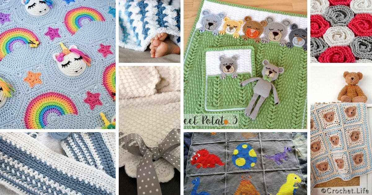 30 Adorable Baby Blanket Crochet Patterns Crochet Life