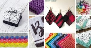Small crochet dishcloth pictures