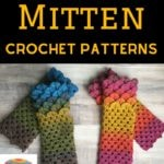 Crochet mitten collage