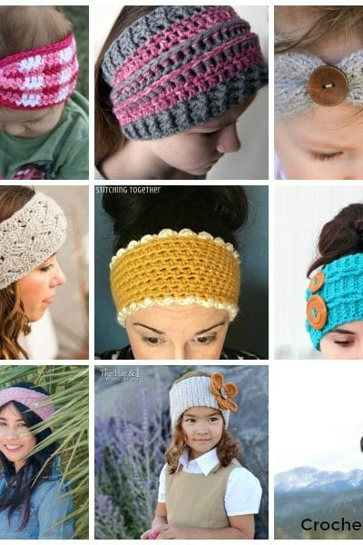 Square collage of ear warmers