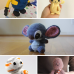 Amigurumi Characters Pattern Collage