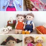 Amigurumi Dolls Pattern Collage