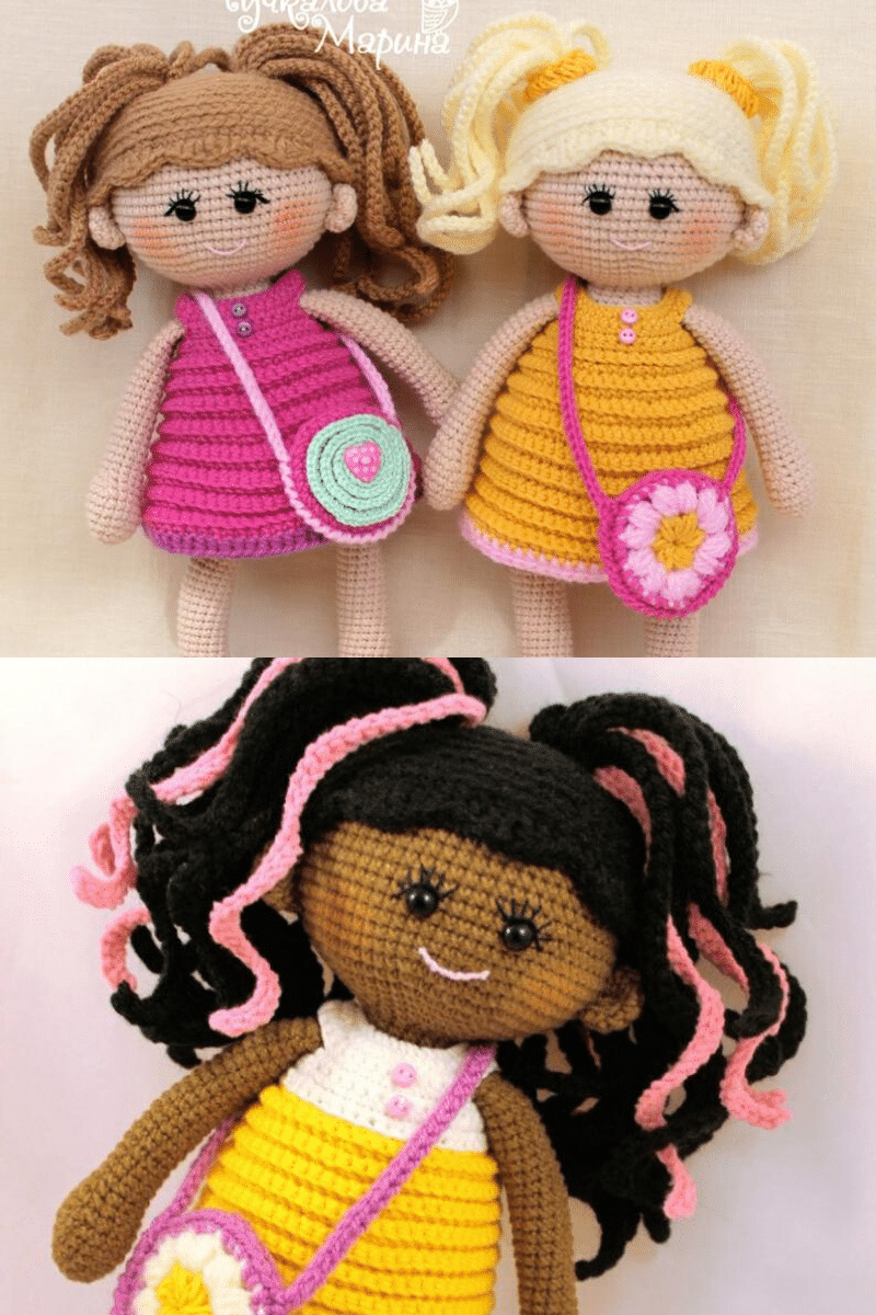 Girl with Purse Crochet