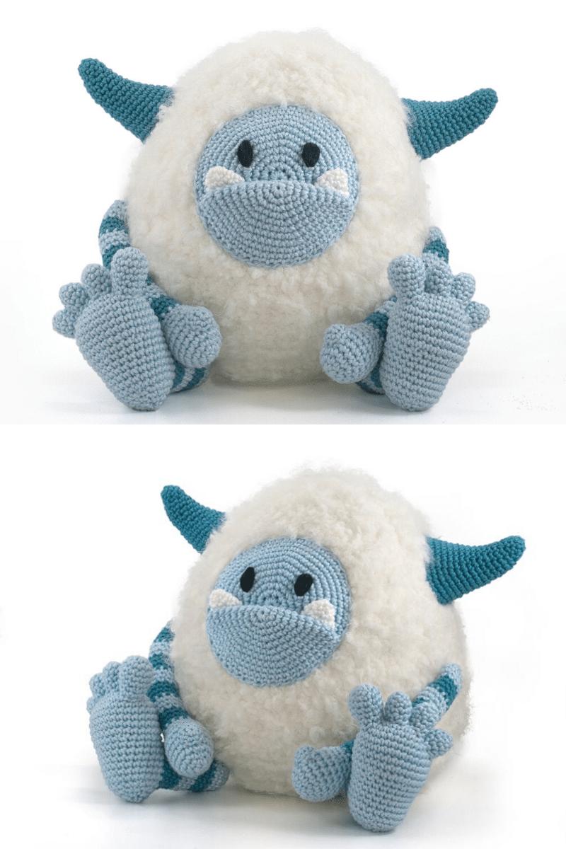 Crochet yeti