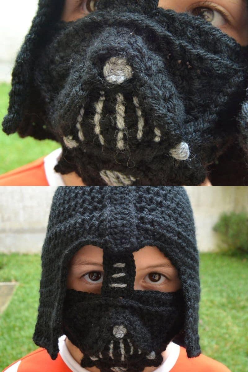 Darth vader crochet mask