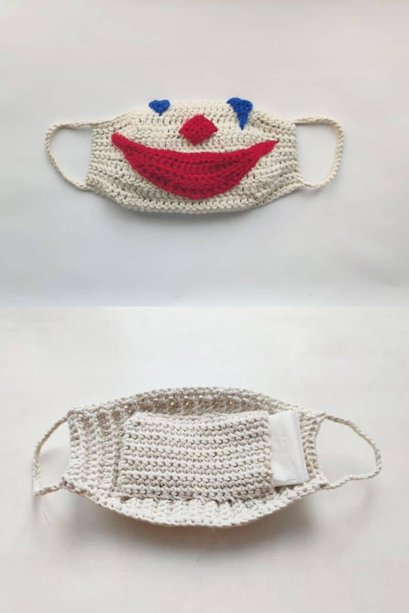 White clown joker mask