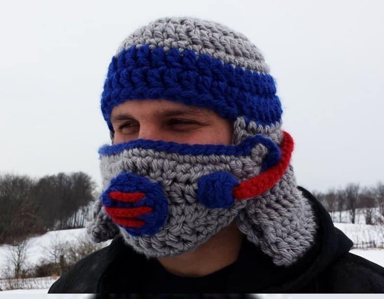 Gas mask crochet mask