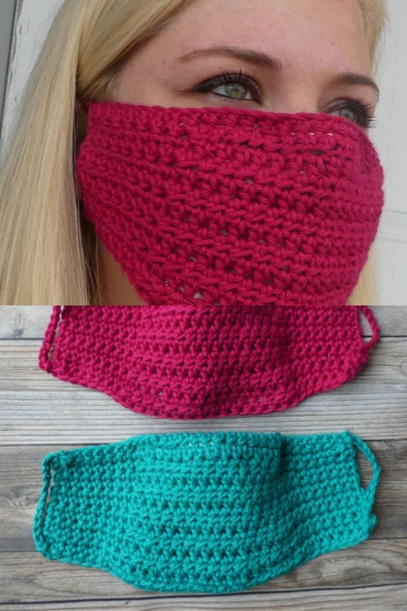 Teal and fuchsia masks