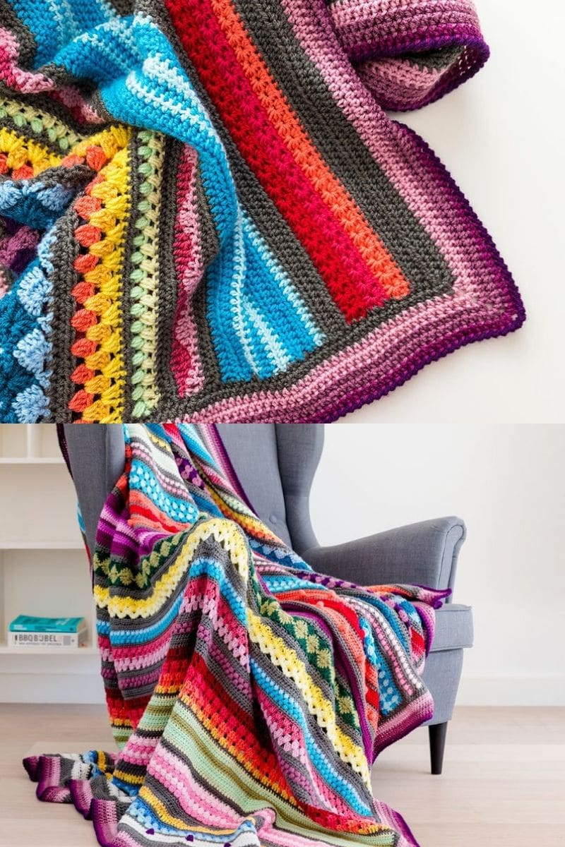 Sampler crochet stitch pattern