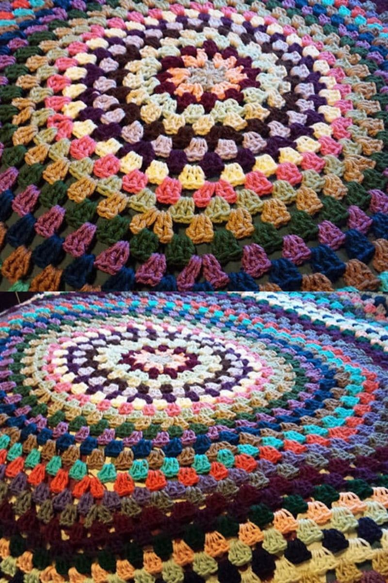 Circle afghan crochet blanket