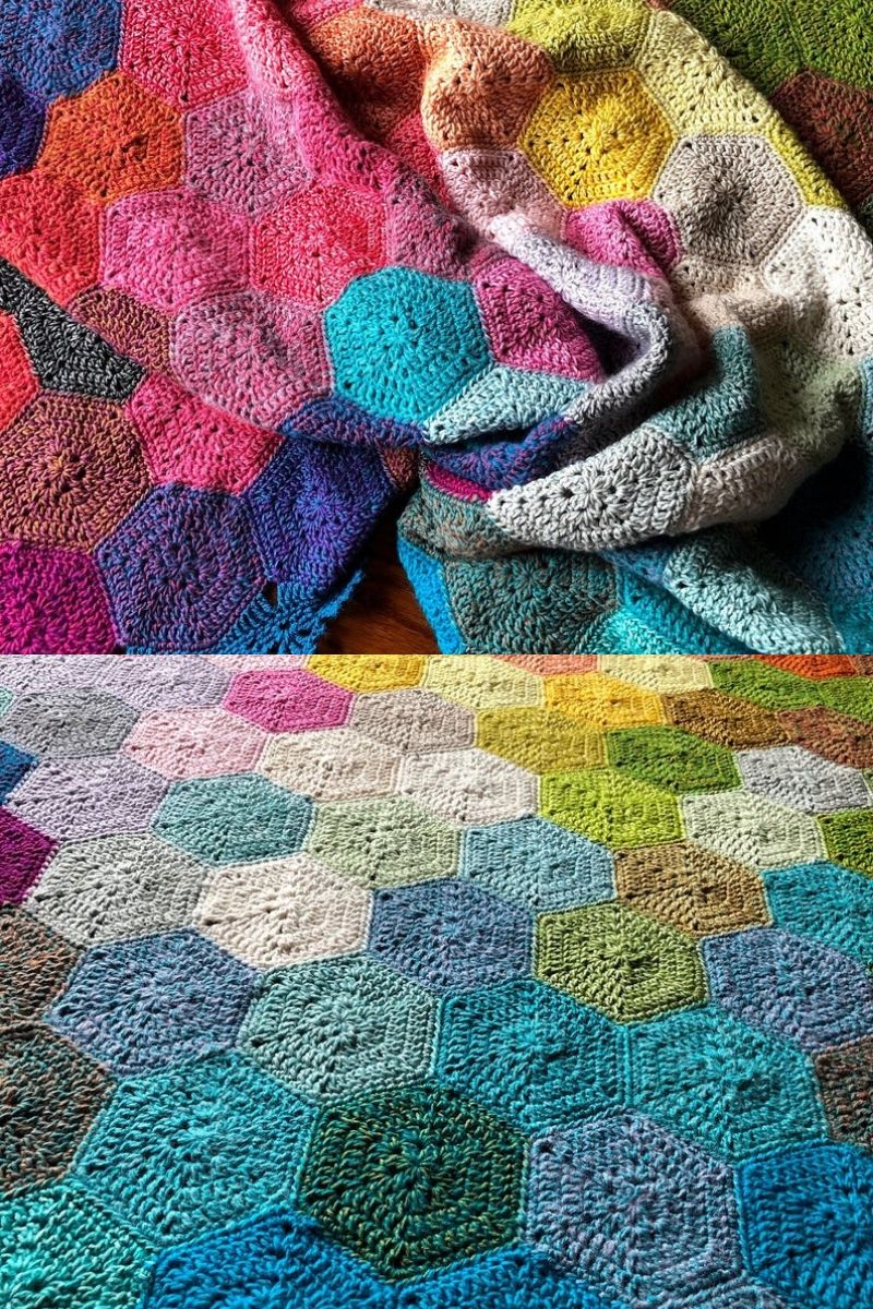 Geometric crochet blanket