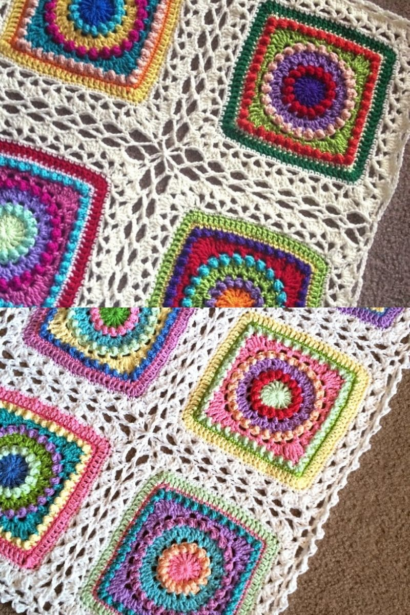 Celtic lace join granny square