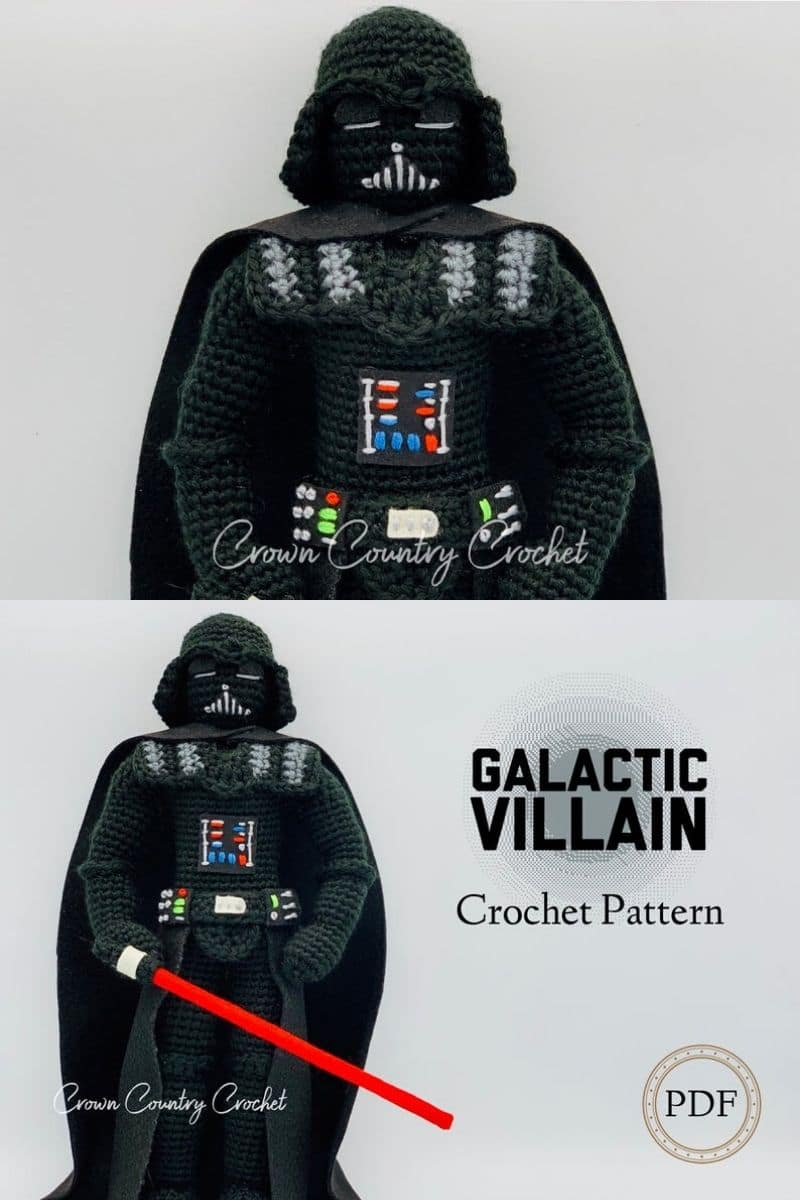 How to Crochet Darth Vader Beanie / Helmet (3-6 months) - YouTube | 1200x800