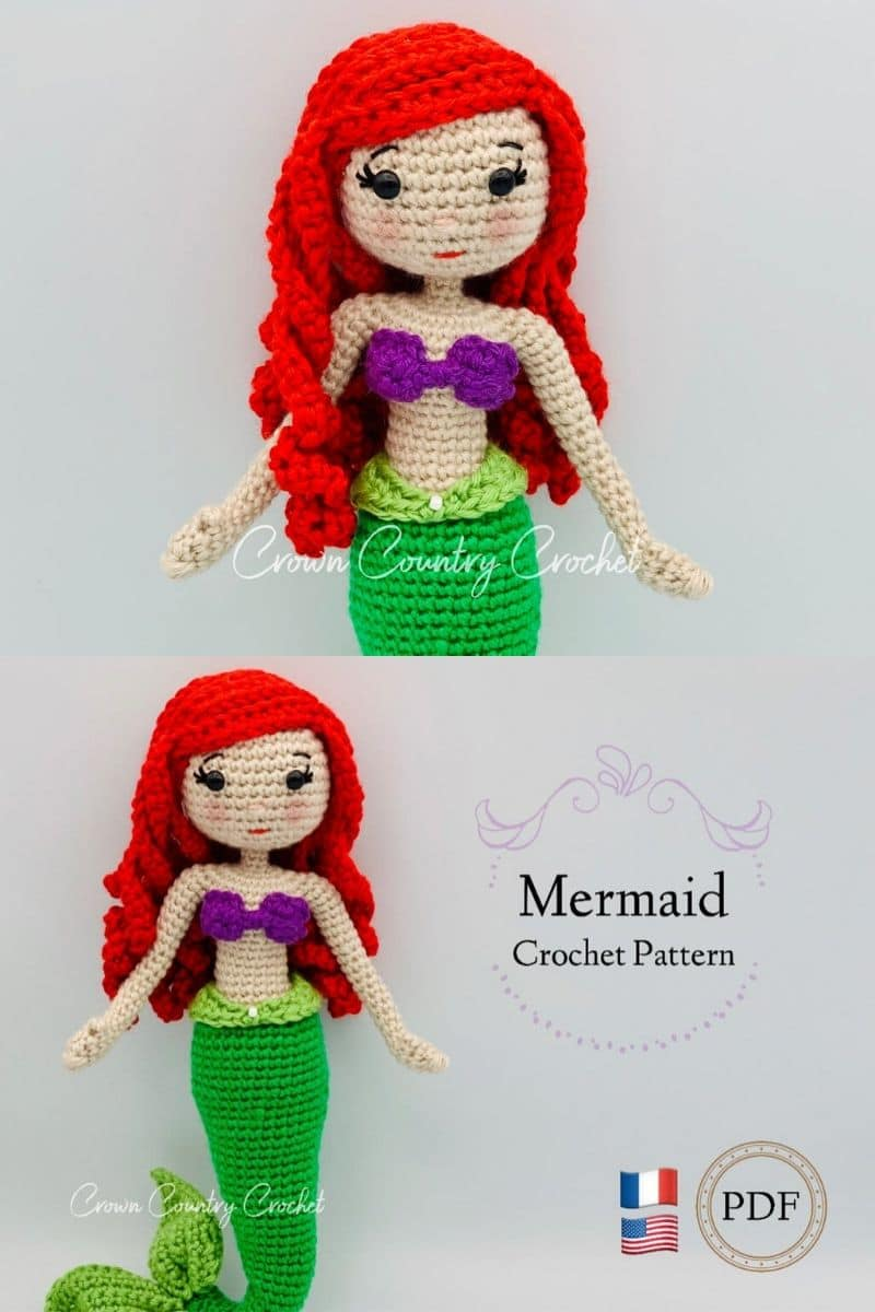 Crochet little mermaid