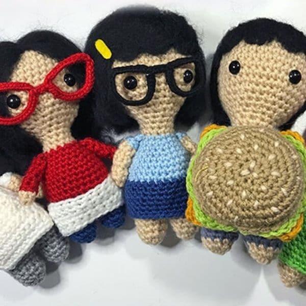 Crochet Bob's Burgers amigurumi