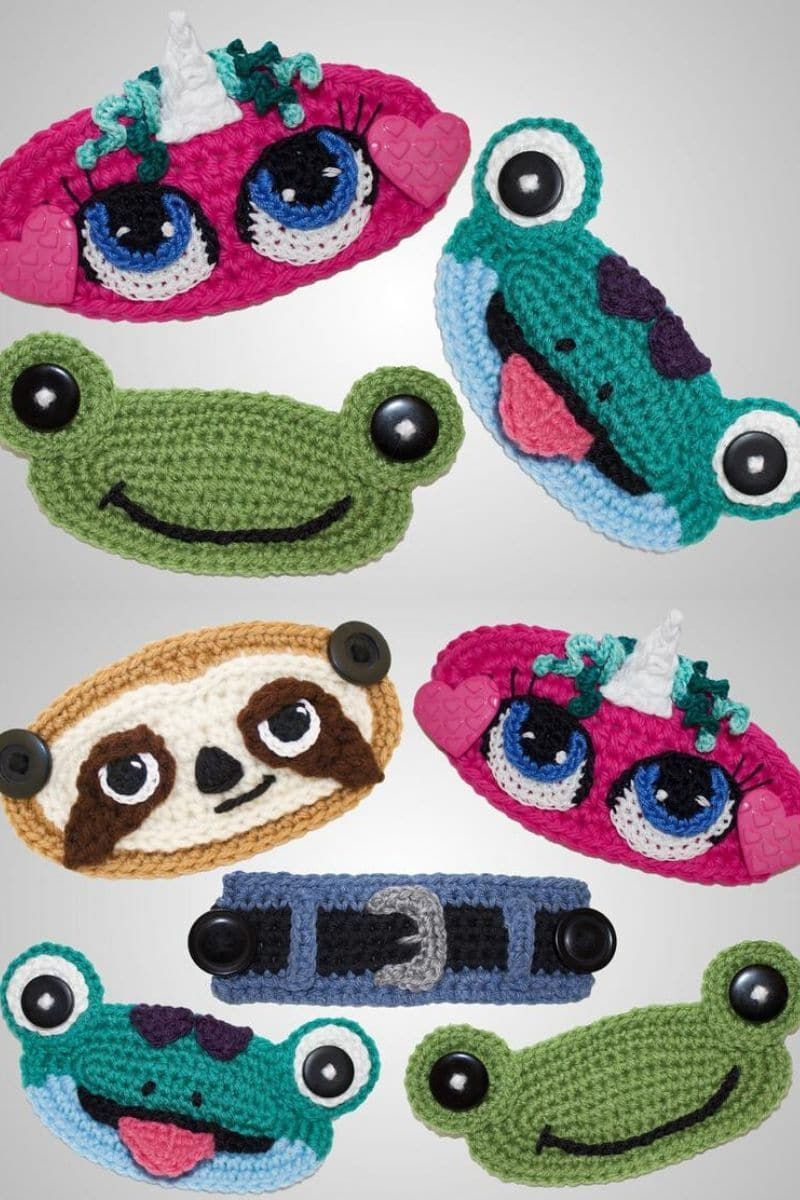 Crochet animal mask covers