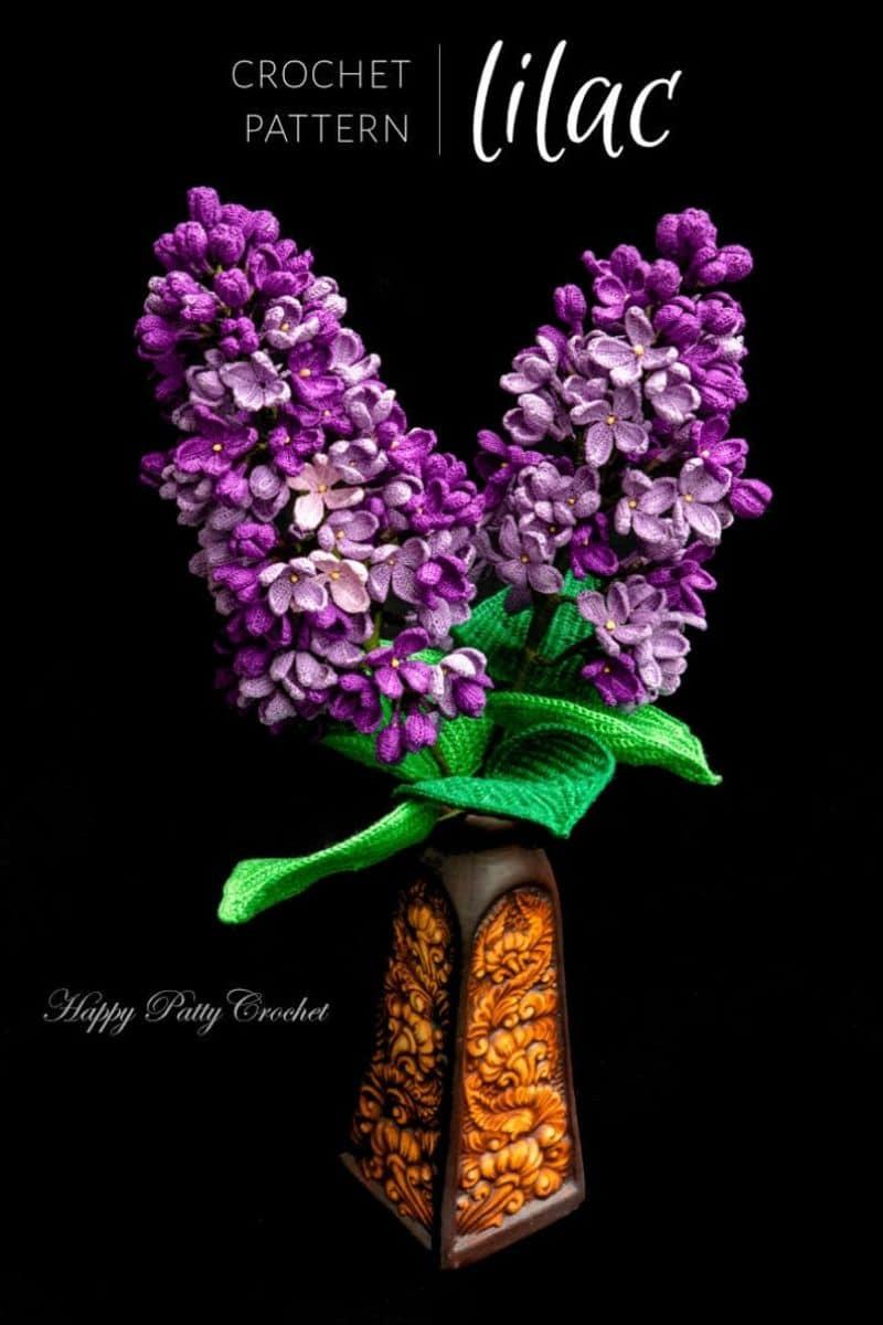 Purple crochet lilacs