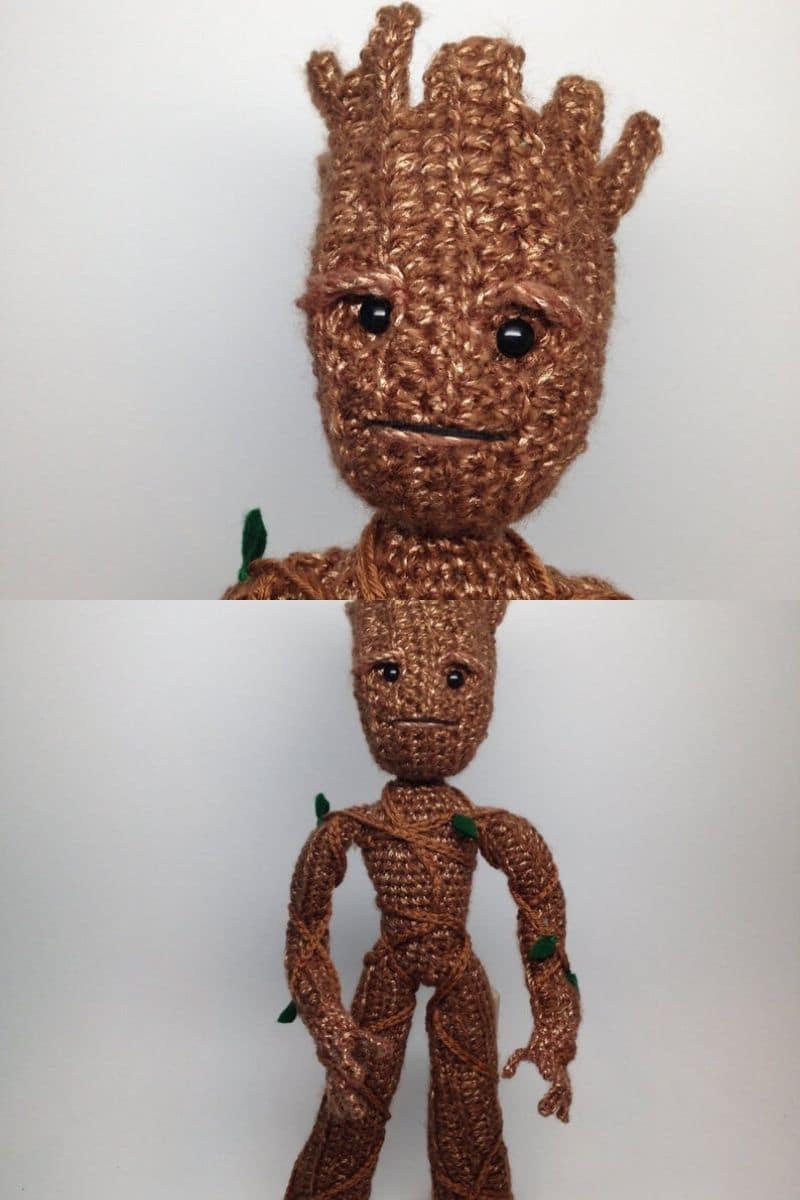 Crochet groot doll