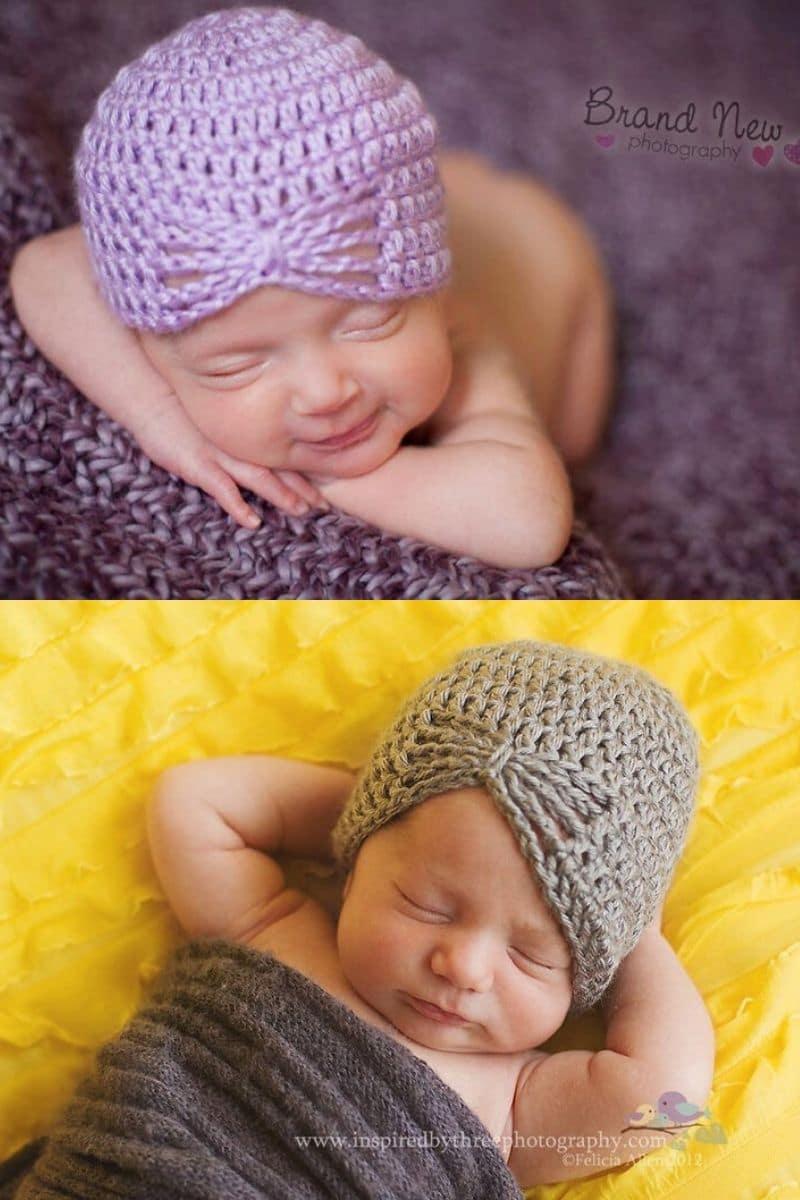 Crochet baby butterfly hat