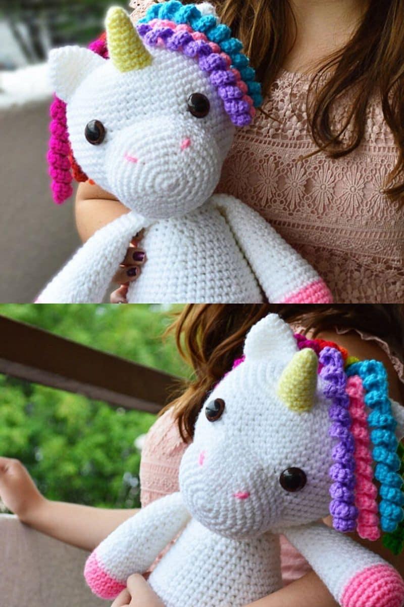 Crochet unicorn amigurumi pattern