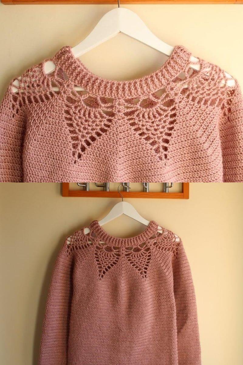 Peach adelaine sweater pattern