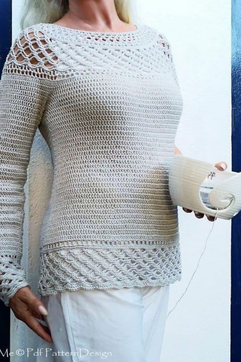 Grey tunic sweater pattern
