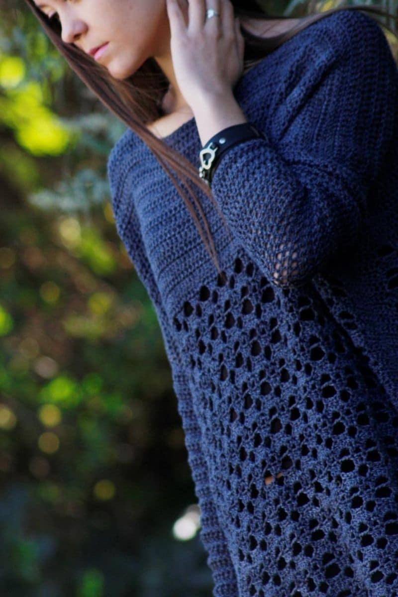 Navy lace sweater