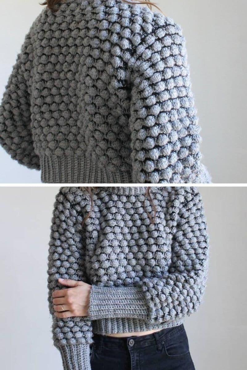 Grey bobble sweater