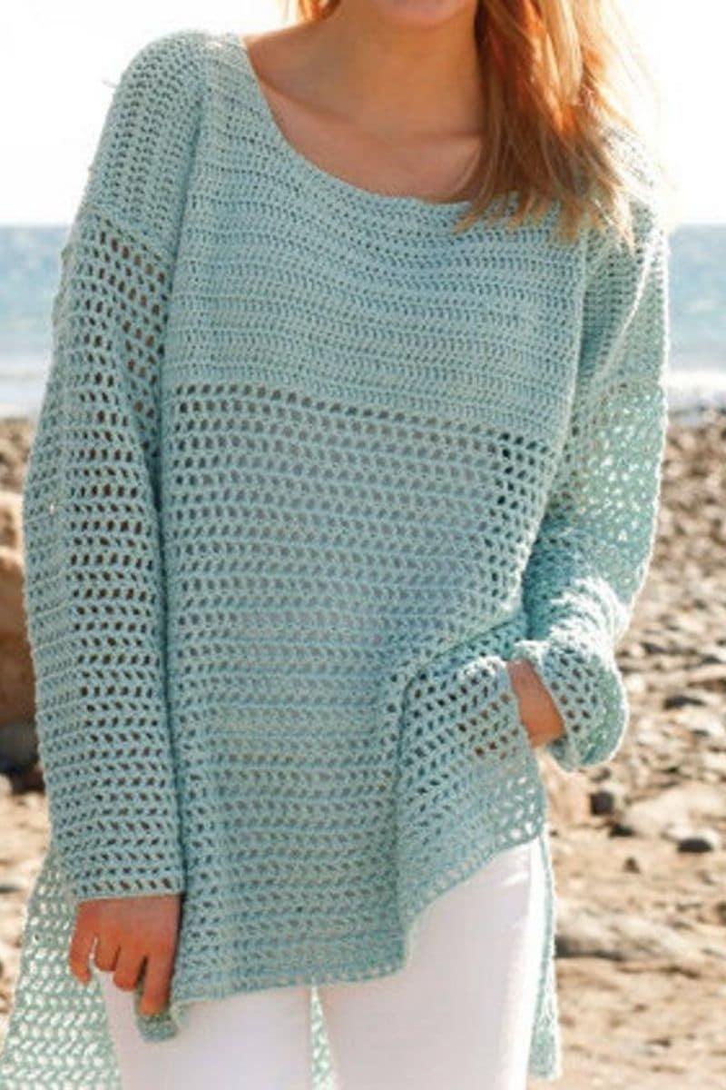 Green thin sweater