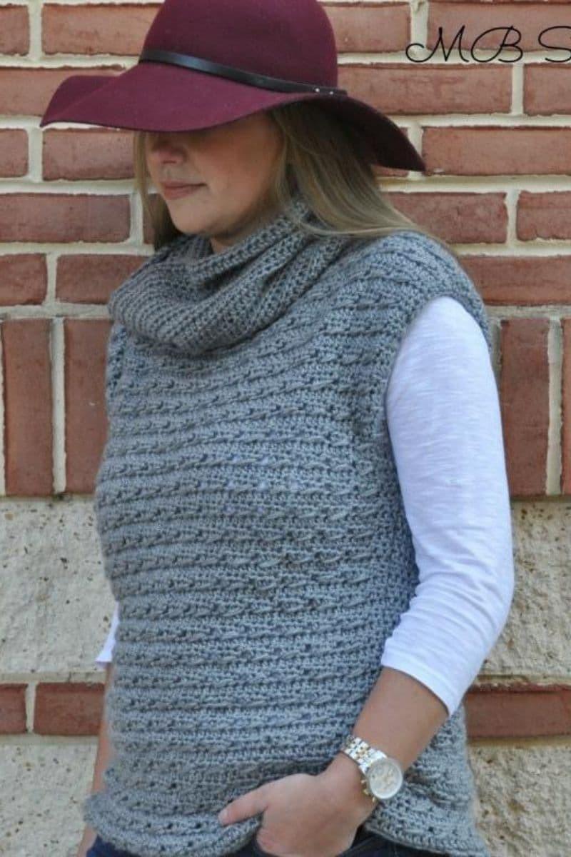 Grey vest sweater