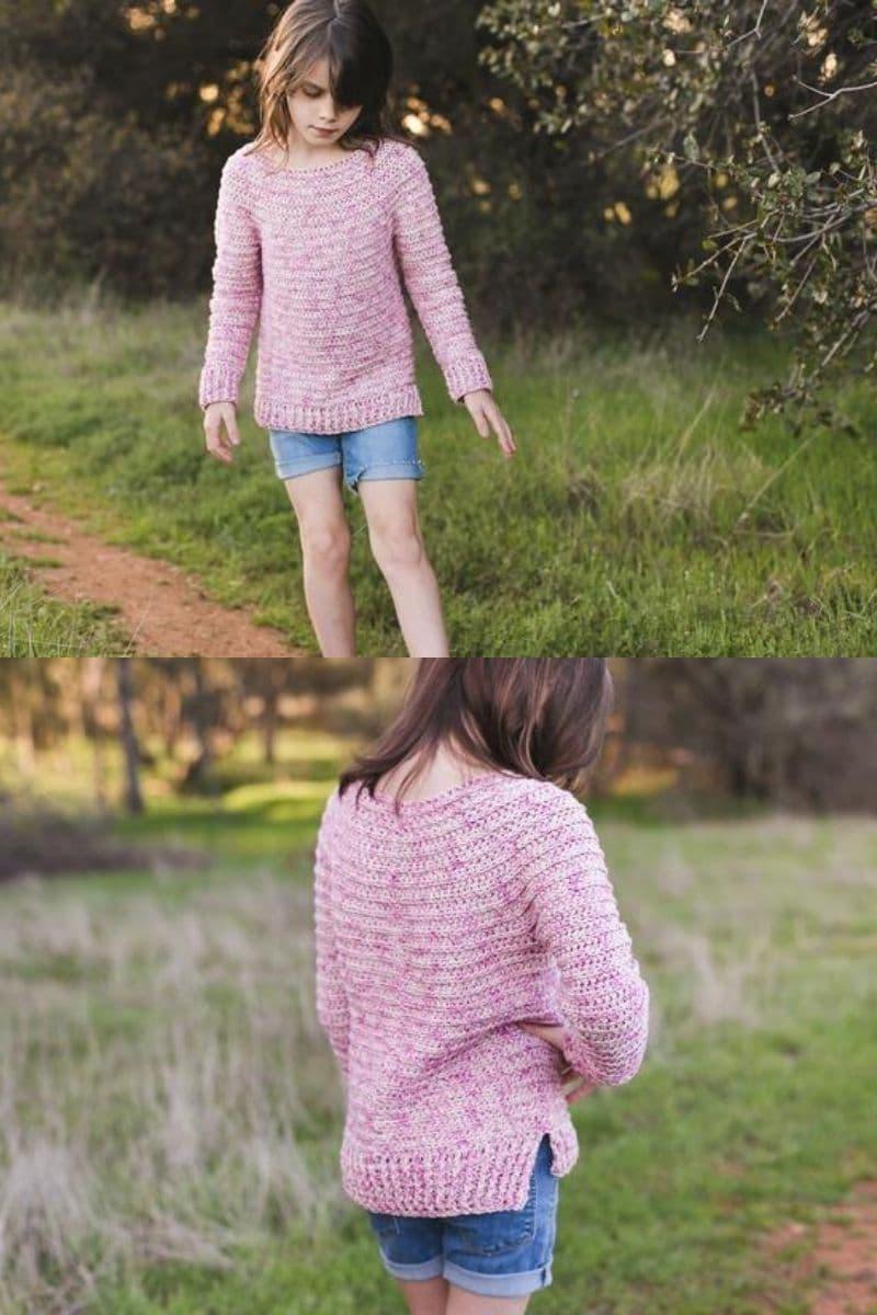 Pink girls sweater