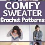 Crochet sweater pattern collage
