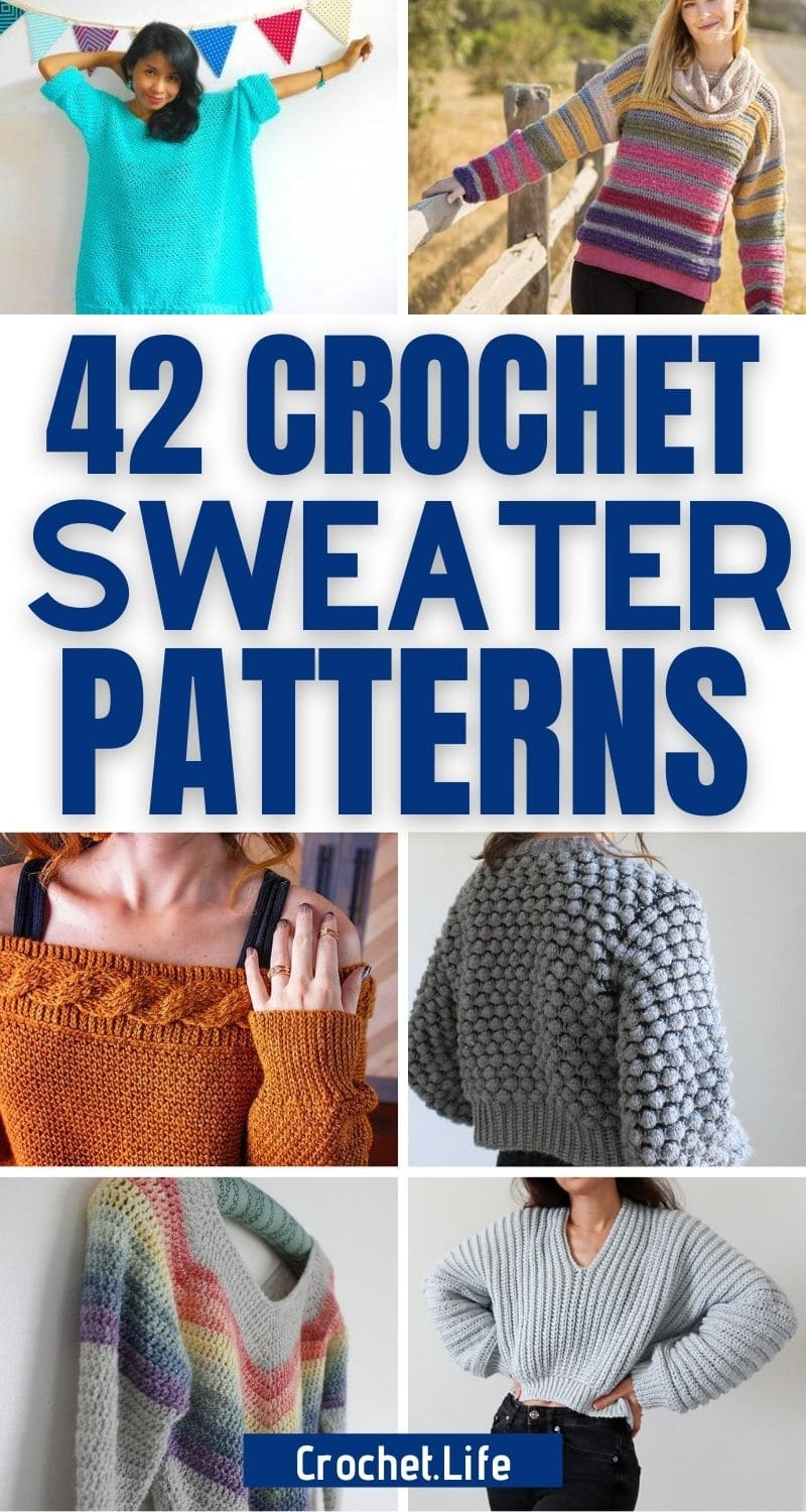 42 Warm Crochet Sweater Patterns For Fall And Winter Crochet Life