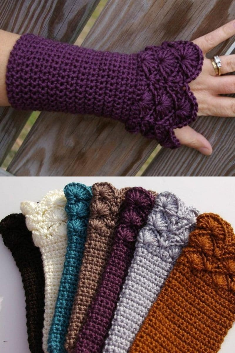 Glove with shell cuff