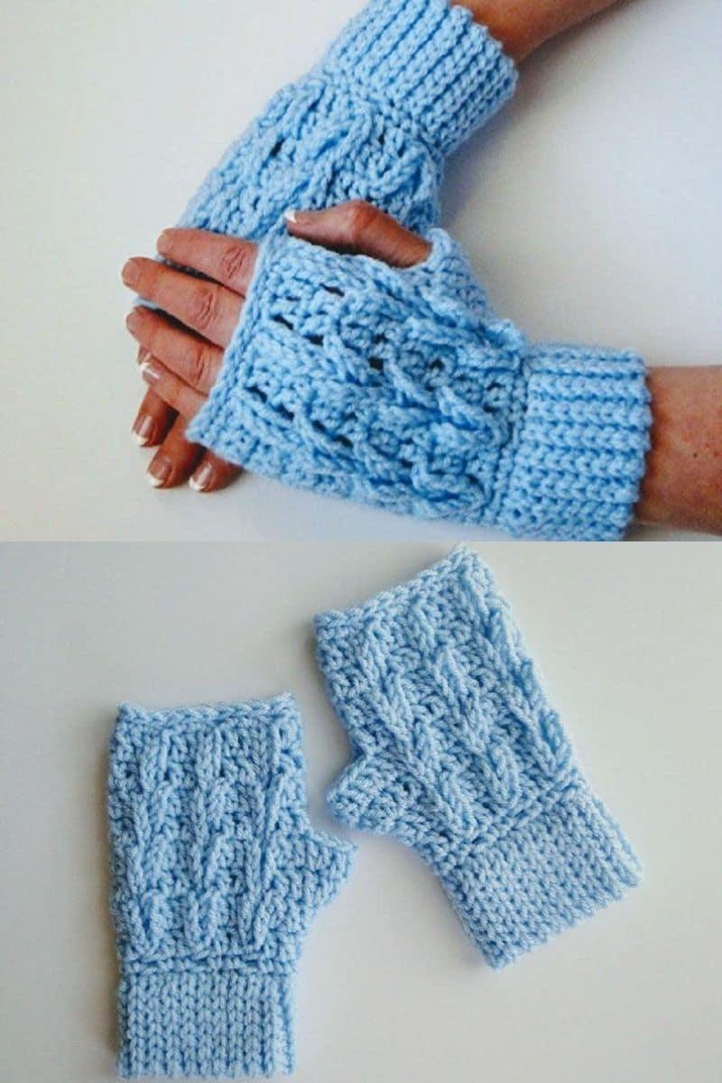 Light blue gloves