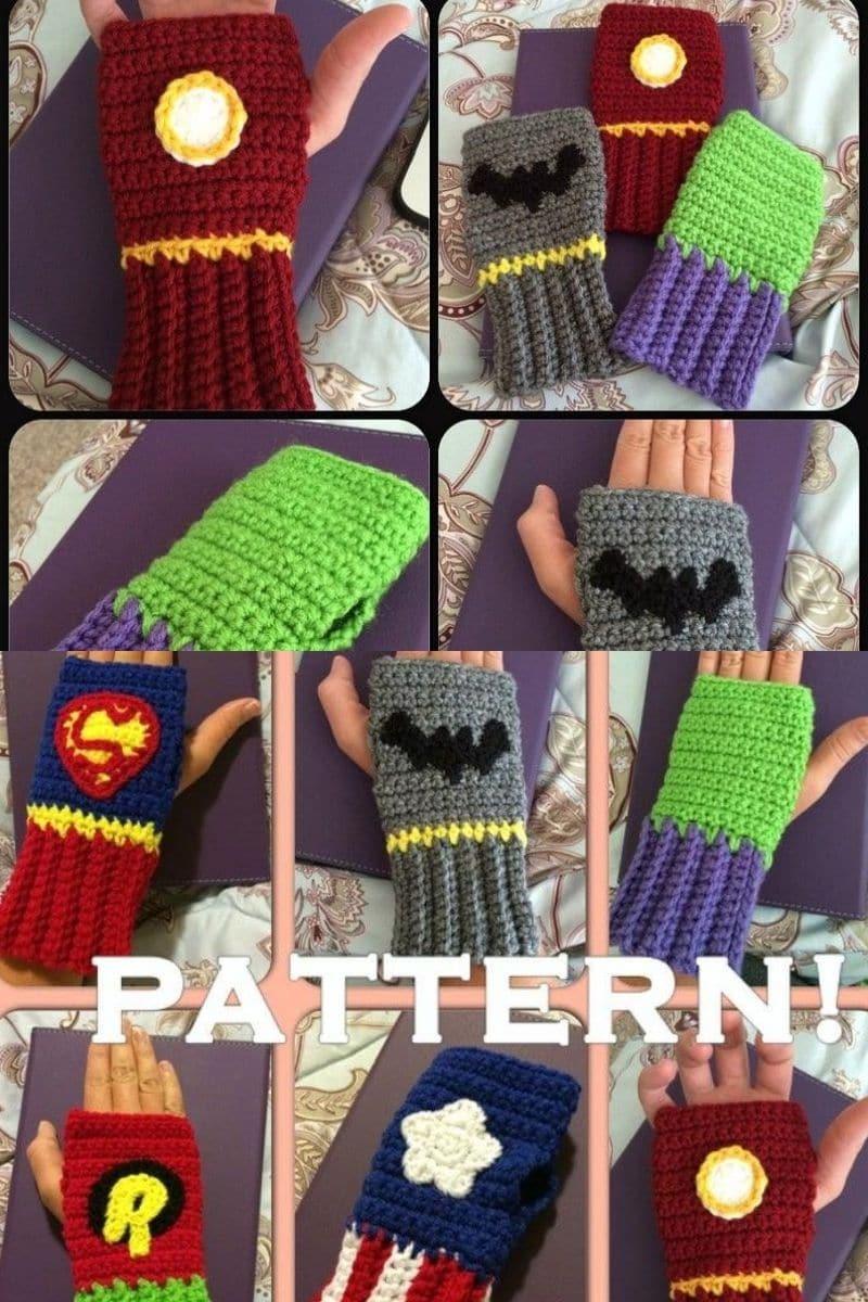 Super hero glove patterns