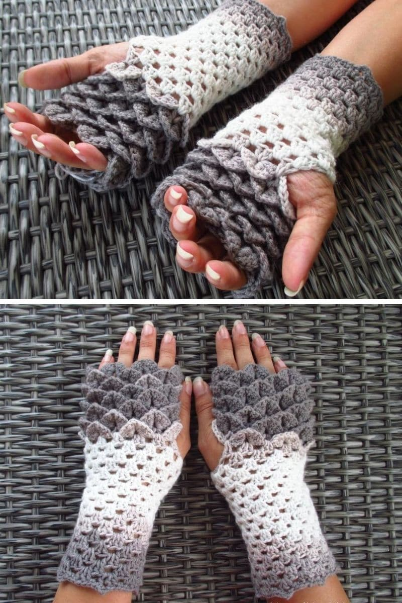 Dragon scale glove