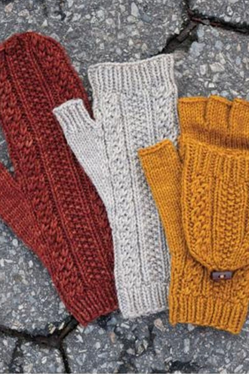 Gloves with mitten flap