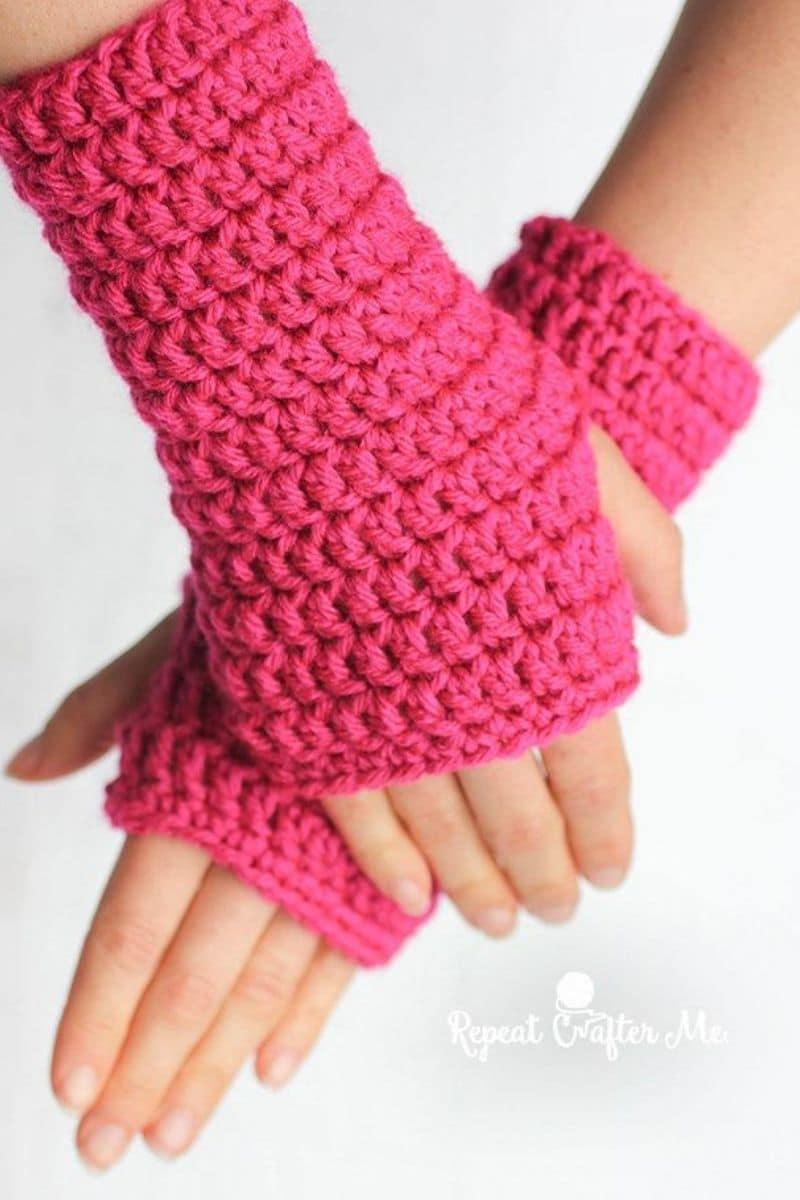 Pink mitten