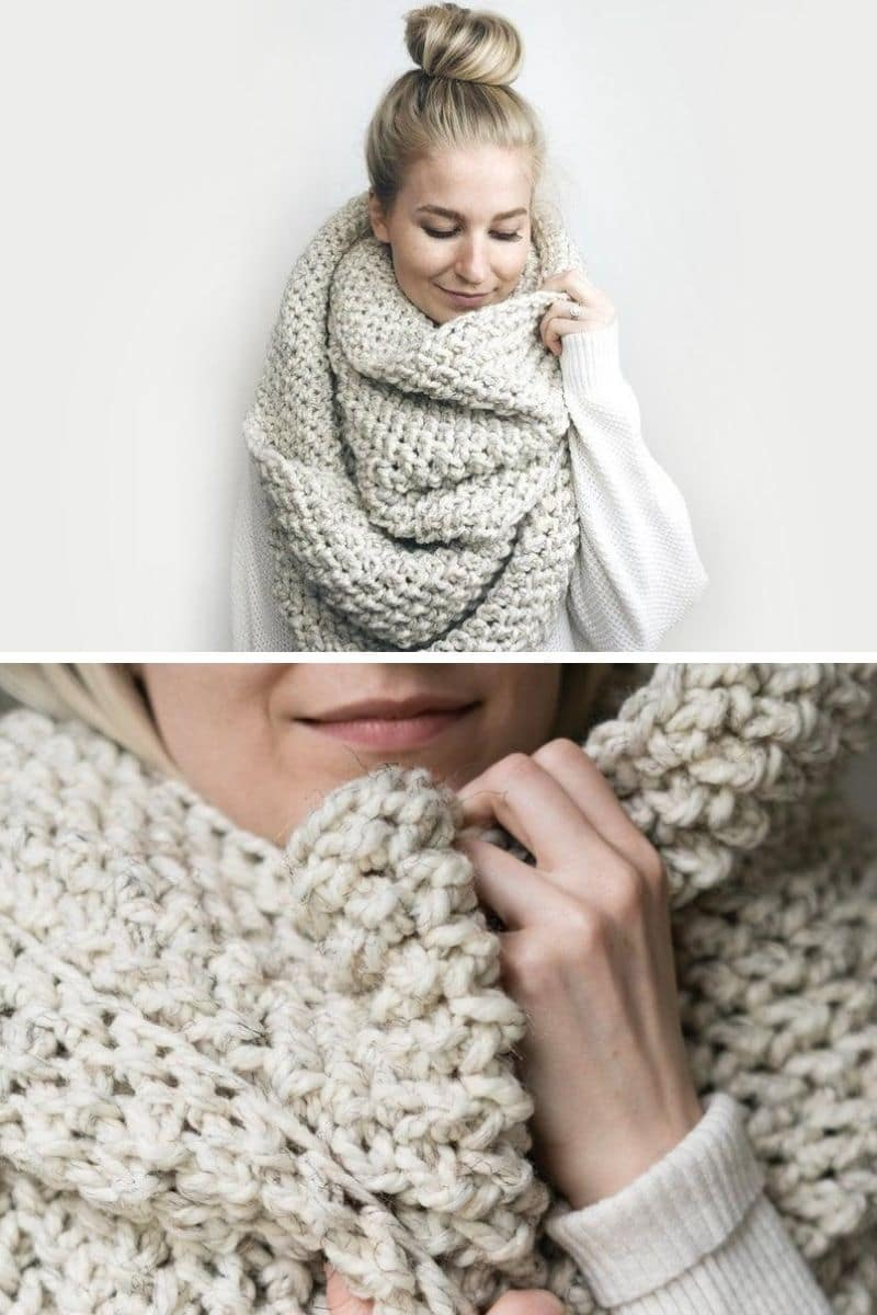 Cream scarf blanket