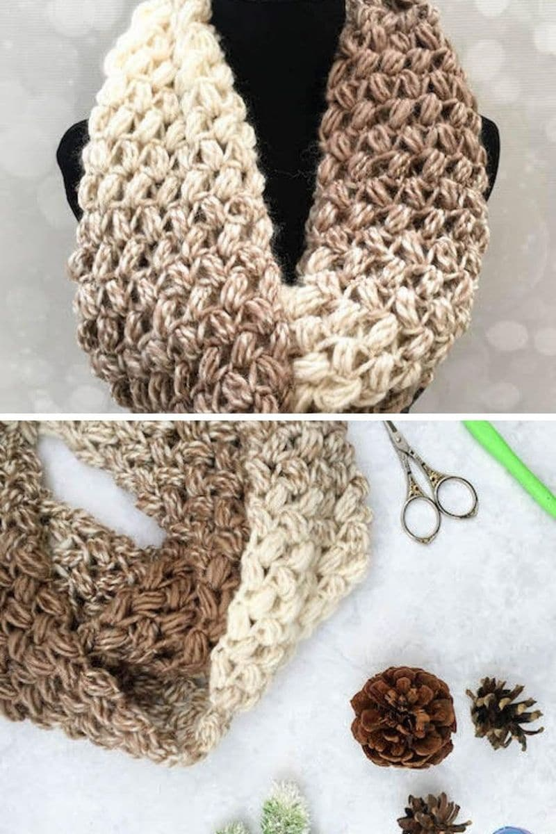 Coffee bean scarf